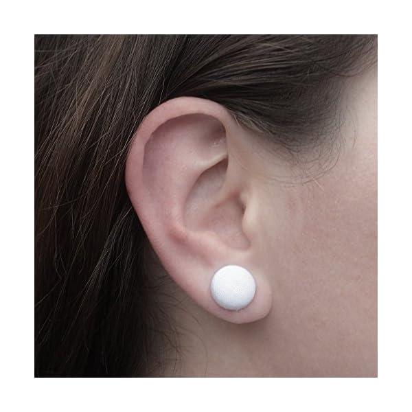 Rainbow Unicorn Fabric Button Earrings 4