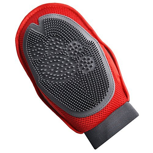 GGkidsfunpet Pet Dog Cat Grooming Massage Glove Brush - Right & Left Handed Fit-Red by GGkidsfunpet (Image #2)