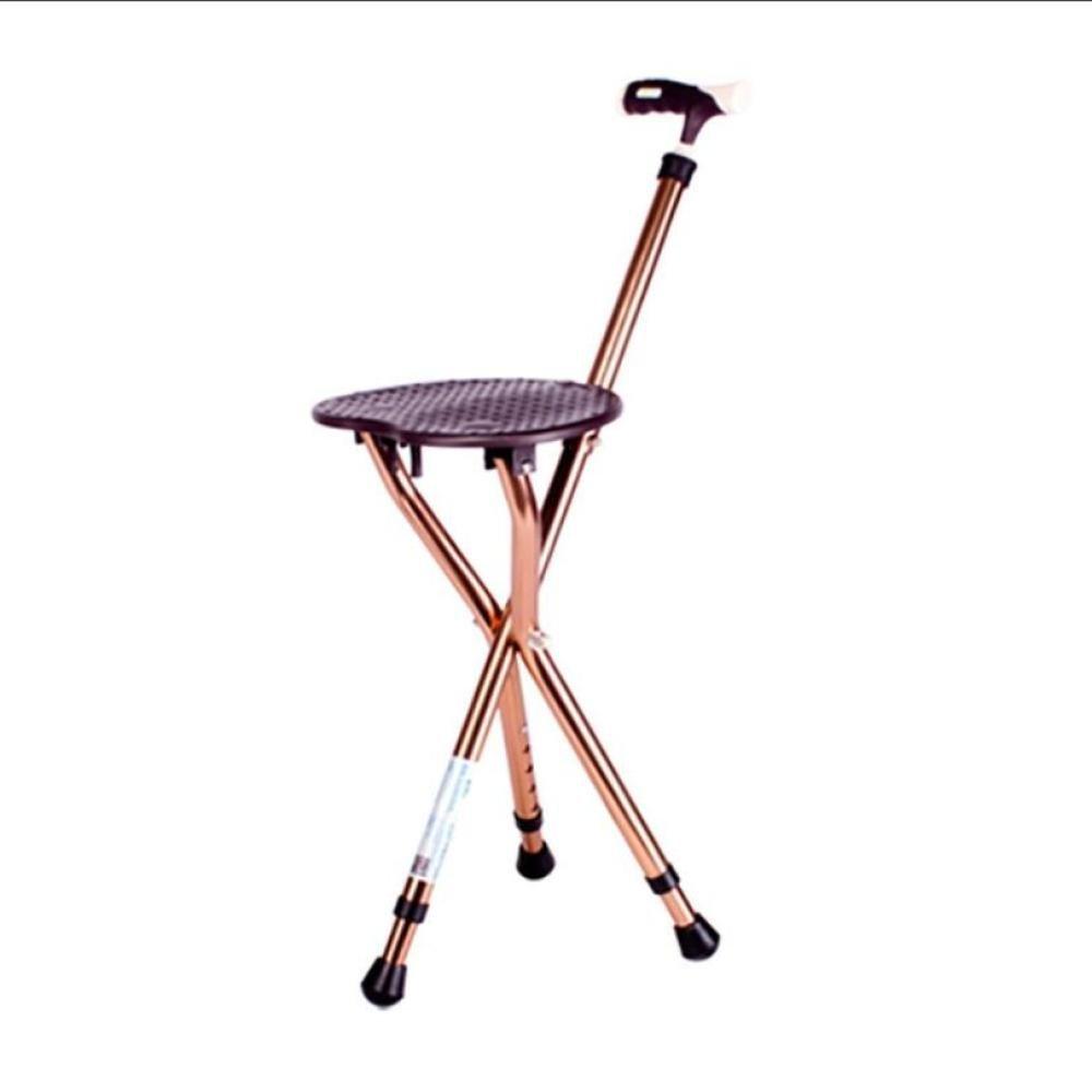 dsfgheウォーキング杖折りたたみ軽量高さ調節可能Cane Seat 07230  B B07DFHGCVY