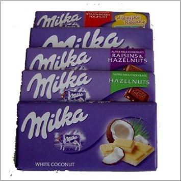 Amazon.com : Milka Chocolate - 10 Bars (2 of each - alpine ...