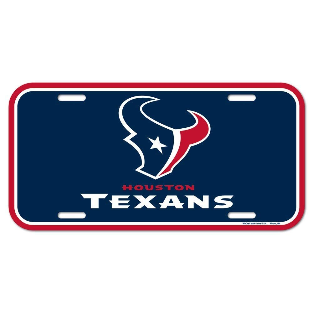 Wincraft NFL Houston Texans License Plate One Size Caseys-Distributing 3208567257 Team Color