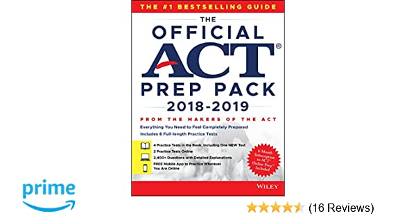 Amazon the official act prep pack with 6 full practice tests 4 amazon the official act prep pack with 6 full practice tests 4 in official act prep guide 2 online 9781119508106 act books fandeluxe Image collections