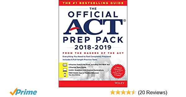 Amazon the official act prep pack with 6 full practice tests 4 amazon the official act prep pack with 6 full practice tests 4 in official act prep guide 2 online 9781119508106 act books fandeluxe Choice Image