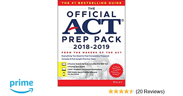 Amazon the official act prep pack with 6 full practice tests 4 amazon the official act prep pack with 6 full practice tests 4 in official act prep guide 2 online 9781119508106 act books fandeluxe Gallery