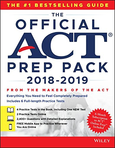The Official ACT Prep Pack with 6 Full Practice Tests (4 in Official ACT Prep Guide + 2 (Background Pack)