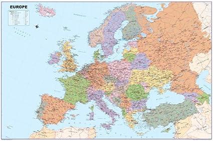 Mapa de Europa – Vinilo – A1 tamaño 59,4 x 84,1 cm) [G]: Amazon.es: Oficina y papelería