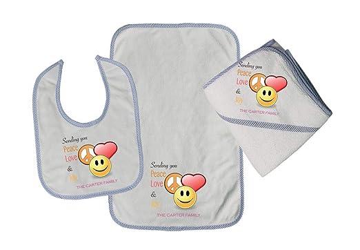 Personalized Custom Sending You Peace Love Joy Cotton Boys-Girls Baby Bib-Burb-