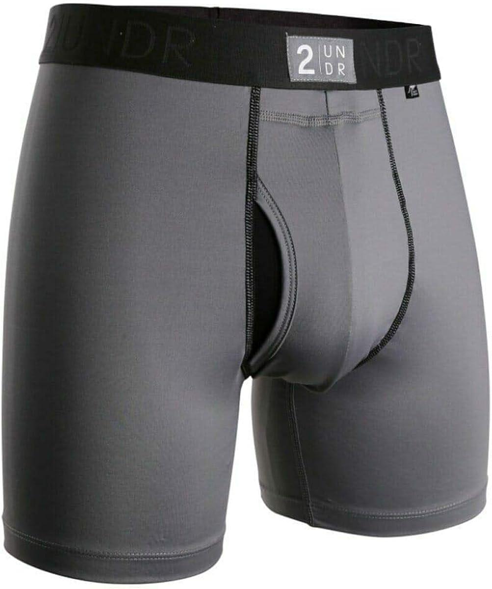 """2UNDR Mens Power Shift 6"""" Boxer Brief Underwear"""