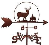 MONTGOMERY INDUSTRIES Deer Wildlife Weathervane (Roof Mounted Included)