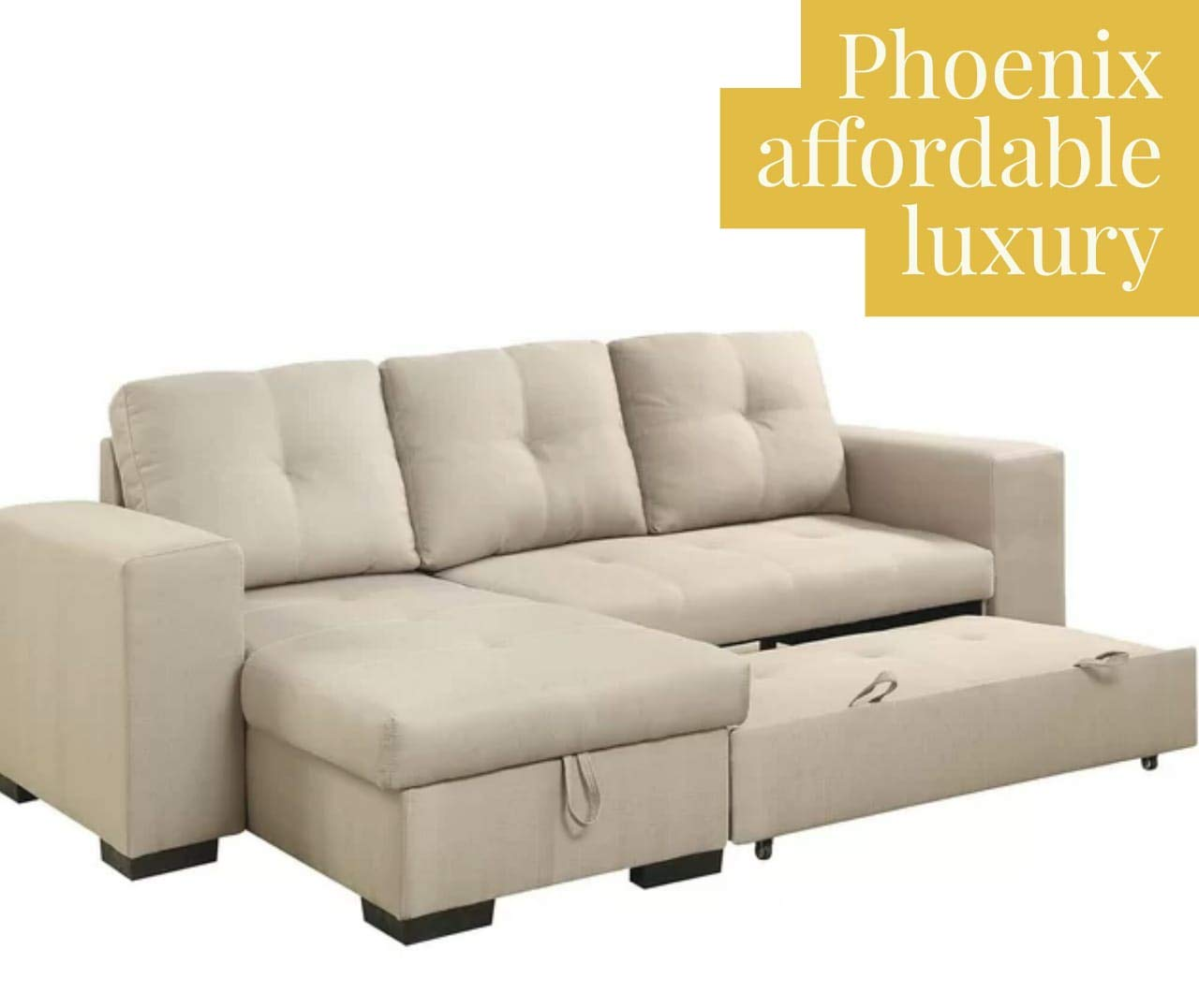 phoenix sofas Scissors Pine Wood Color Sofa Cum Bed with ...