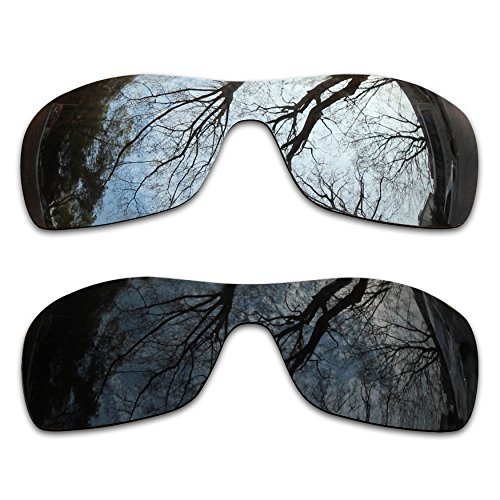 2 Pair Polarized Lens Replacement for Oakley Antix Black&Silver ()