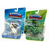 Skylanders Superchargers Vehicles TWO Sky Vehicles Stealth Stinger Life and Jet Stream Air