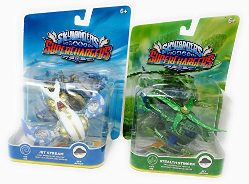Air Stinger (Skylanders Superchargers Vehicles TWO Sky Vehicles Stealth Stinger Life and Jet Stream Air)