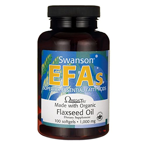 Swanson Flaxseed Oil (Omegatru) 1,000 Milligrams 100 Sgels For Sale