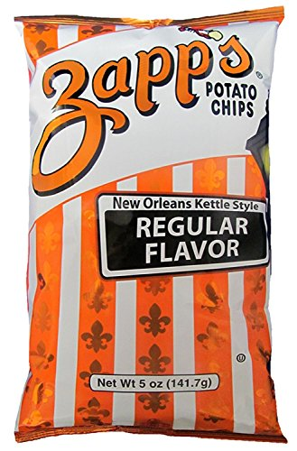 Zapp's Kettle Style Potato Chips - Regular Flavor - 5 Oz. (8 Bags)