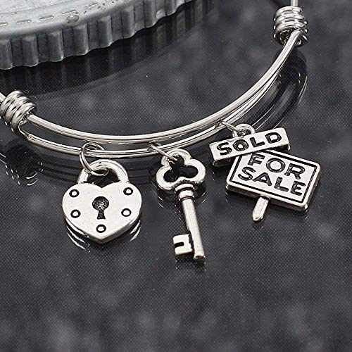 - Custom Real Estate Agent Bracelet Stainless Steel Bangle Appreciation Gift