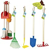 Kids Indoor & Outdoor Cleanup Play Bundle - House Chores & Garden Tools Kit for 3-6 years