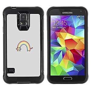 Suave TPU GEL Carcasa Funda Silicona Blando Estuche Caso de protección (para) Samsung Galaxy S5 V / CECELL Phone case / / rainbow cat rainbow drawing cute /