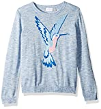 The Children's Place Big Girls' Graphic Knit Sweater, Morningsky 87149, S (5/6)