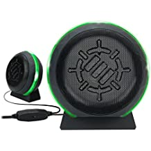 ENHANCE Computer Gaming Speakers LED with Subwoofer, Accessories with 5W Drivers and in-Line Volume Control - Green Glowing Lights, USB 2.0 Powered, 3.5mm Connection for PC, Desktop, Laptop