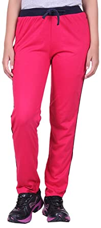 DFH Women's Cotton Track Pant Dark Pink Track Pants & Joggers at amazon