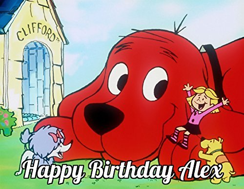 Clifford the Big Red Dog Edible Image Photo Cake Topper Sheet Personalized Custom Customized Birthday Party - 1/4 Sheet - 74143