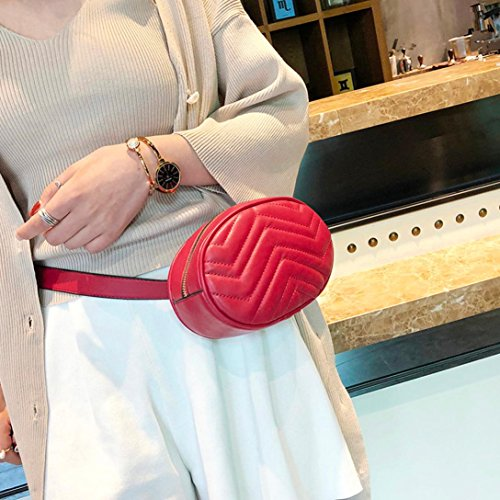 Red Fashion Chest Bag Messenger Pure Bag Zarupeng Women Color Leather 40Bfwq