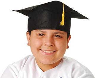 Child Size Graduation Caps - Black Felt, 12-Pack U.S. Toy H42