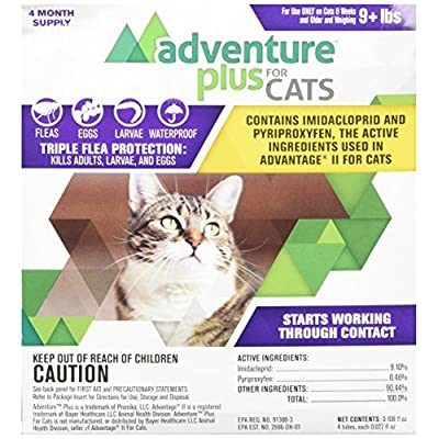 Cat Health Products Adventure Plus for Cats 4pk 9lb+ [tag]