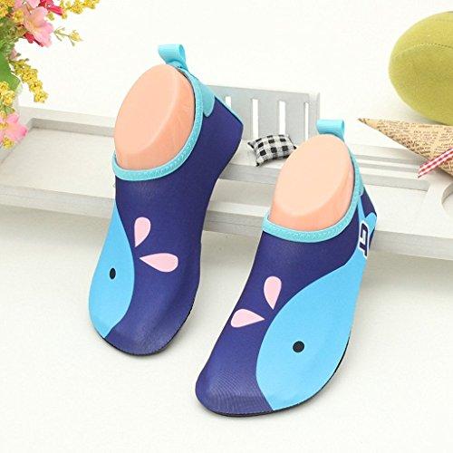Rutschfest Badeschuhe Schwimmschuhe Weiche Aquaschuhe Herren für Baby Eagsouni 9dunkelblau Schuhe Kinder Wasserschuhe Damen 4qdHXX