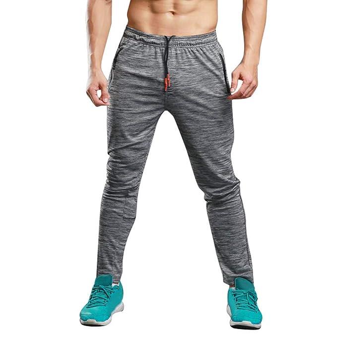 Bestow Deportes al Aire Libre de los Hombres estiran Transpirable Pantalones  Casuales Hombres Pantalones de chándal 6190b165ad3c