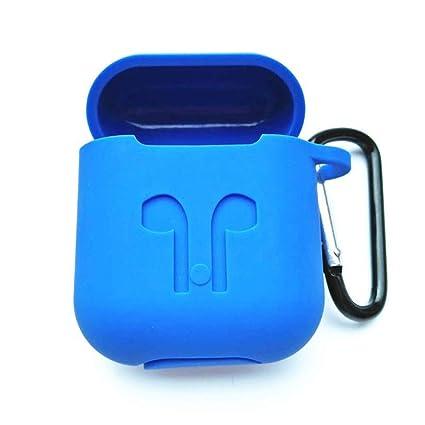 Delleu - Auriculares inalámbricos con Bluetooth para Apple con protección contra los Airpods Azul Azul