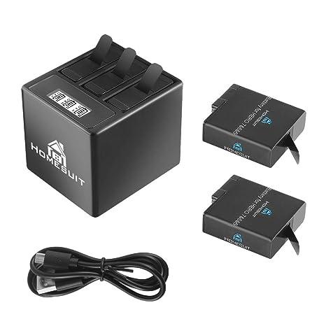 Homesuit GoPro Hero 5/6/7 1500 mah Baterías de Repuesto ...