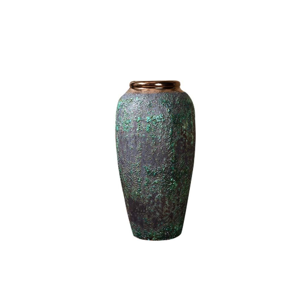 HBJP 中華風ヴィンテージ石器花瓶フロアスタンド花瓶リビングルーム装飾装飾 花瓶 (サイズ さいず : BHigh30CM) B07RWV2T2B  BHigh30CM