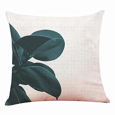 45 * 45 cm funda de almohada de plantas naturales flores ...