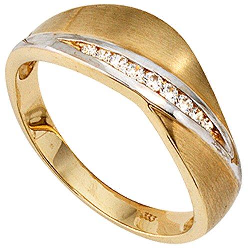 JOBO Damen-Ring aus 333 Gold mit Zirkonia