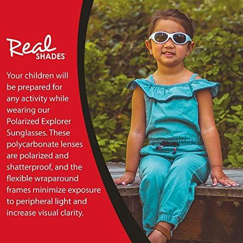 Real Kids Shades Explorer Flex Fit Lunette de Soleil Rose Cerise//Vert Citron 0+