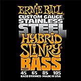 Ernie Ball Stainless Steel Hybrid Slinky Bass Set, .045 - .105