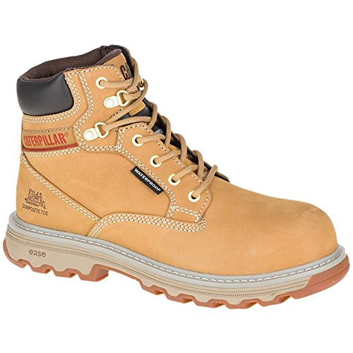 - Caterpillar Women's Superstat Waterproof Composite Toe Work Boots, Tan, 6.5 W