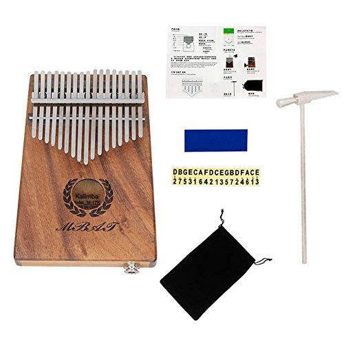 Dilwe Thumb Piano, 17 Key Acacia + Metal Kalimba Mbira EQ Pocket Thumb Piano Solid Finger Piano by Dilwe