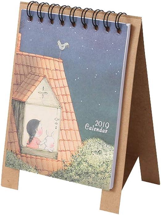 Calendarios 2019 12.5 * 9.5 cm Calendarios de Mesa creativos Papel ...