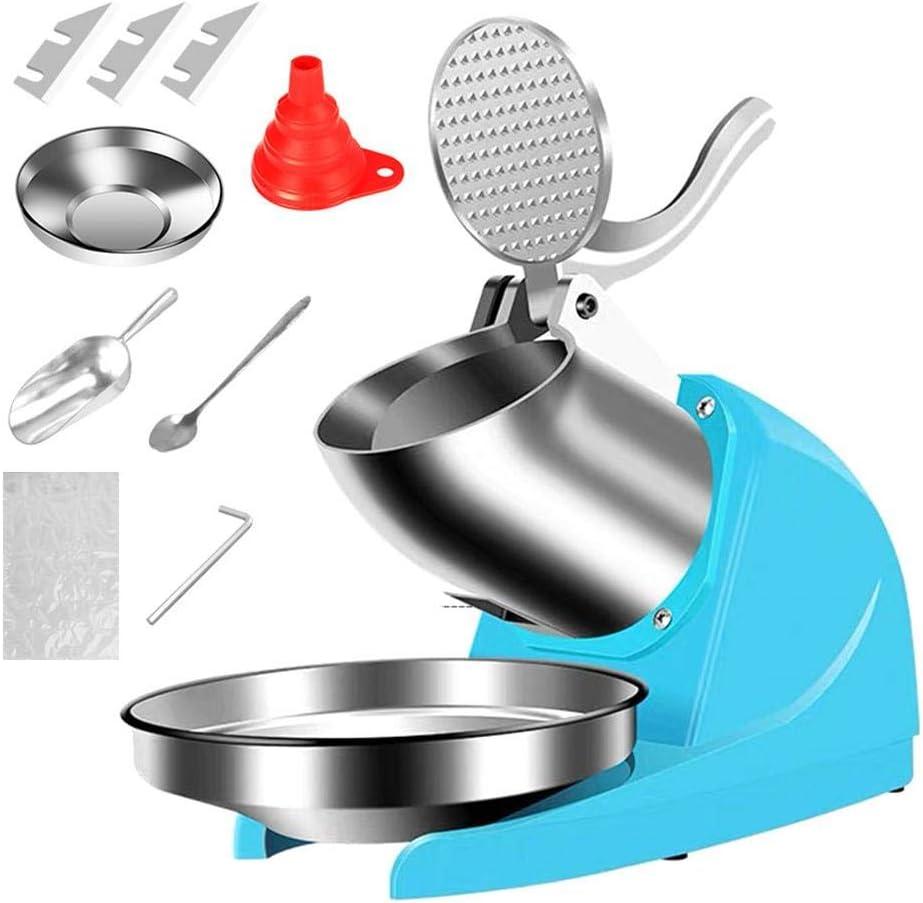 Eiscrusher Maschine Edelstahl Elektrische Eisw/ürfelbereiter 380W Eiscrasher 38Kg//H Ideal f/ür Softdrinks Cocktails oder kalte Nachtischzubereitung Elektrische Ice Crusher Shaver
