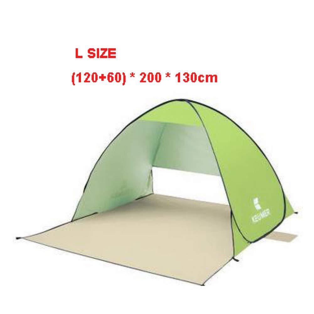 L Taille vert  YXYSHX Tente De Plage 2 Personnes 1 Seconde Ouverte Tente De Camping Tente De Camping à Ouverture Instantanée Tente Extérieure pour Auvent Extérieur Sunshelter,