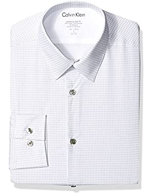 Men's Dress Shirts Xtreme Slim Fit Thermal Stretch Houndstooth