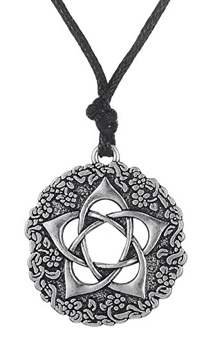 cle of The Goddess Rose Talisman Pendant Pentagram Necklace Protection Gifts Jewelry ()