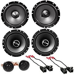 "Alpine Sps-610 6.5-inch 2-way Type-s Series Coaxial Car Speakers With Alpine Sps-610c 6-12"" Component 2-way Type-s Speaker Metra 72-4568 Speaker Harness For Select Buick & Chevy 2015 Gm Vehicles"
