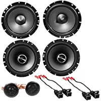 Alpine SPS-610 6.5-Inch 2-Way Type-S Series Coaxial Car Speakers with Alpine SPS-610C 6-1/2 Component 2-Way Type-S Speaker Metra 72-4568 Speaker Harness for Select Buick and Chevy 2015 GM Vehicles