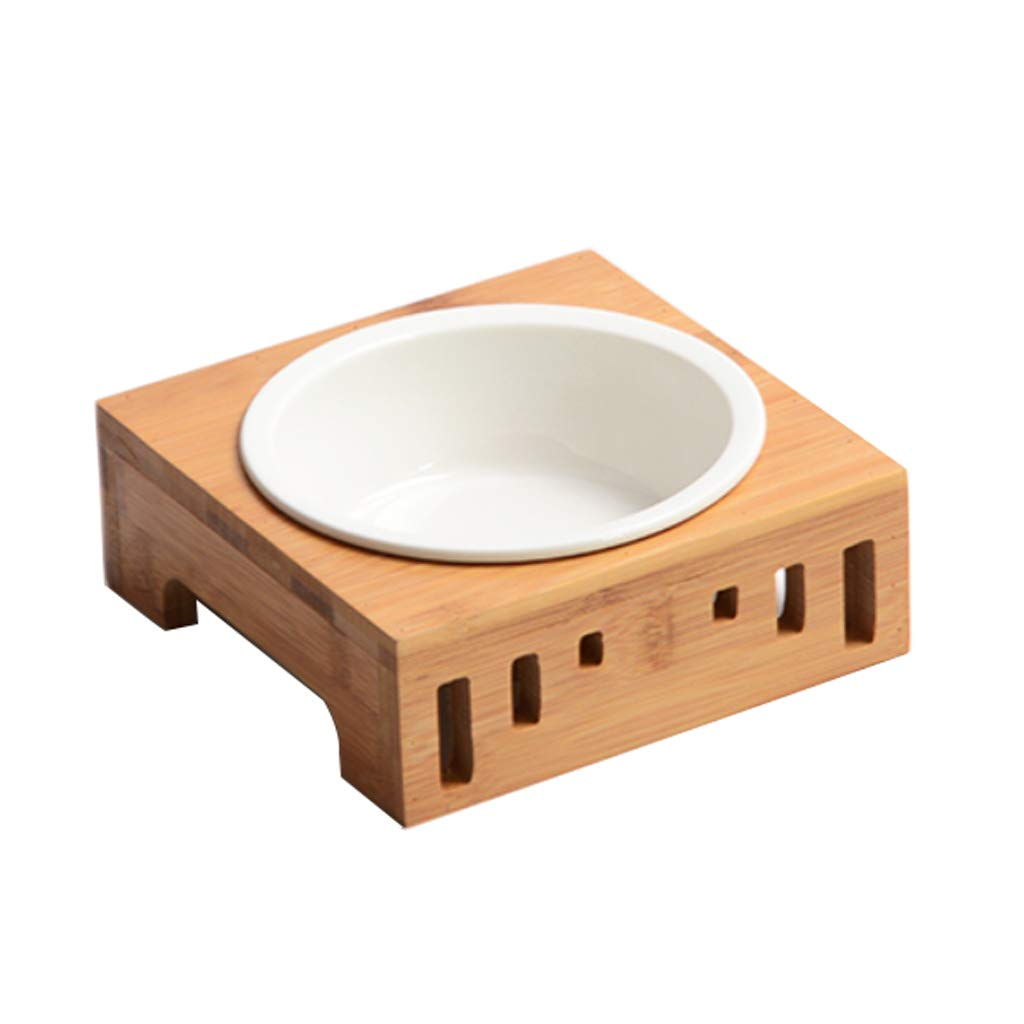 A bowl JIANXIN Dog Bowl, Food Bowl, Cat Table, Non-Slip Oblique Mouth, Suitable for All Kinds of Cats (Three Sizes) (Size   A Bowl)