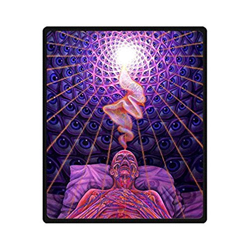 Alex Grey Art Paintings Customized Cozy Fleece Blanket Bed/Sofa Throws 58 X 80 Inch Large (Alex Sofa)