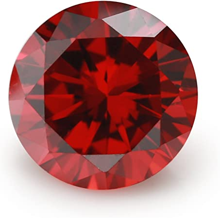 100pcs 3x3~10x10mm Square Rose Red Loose Glass Gemstone Machine Cut Stone
